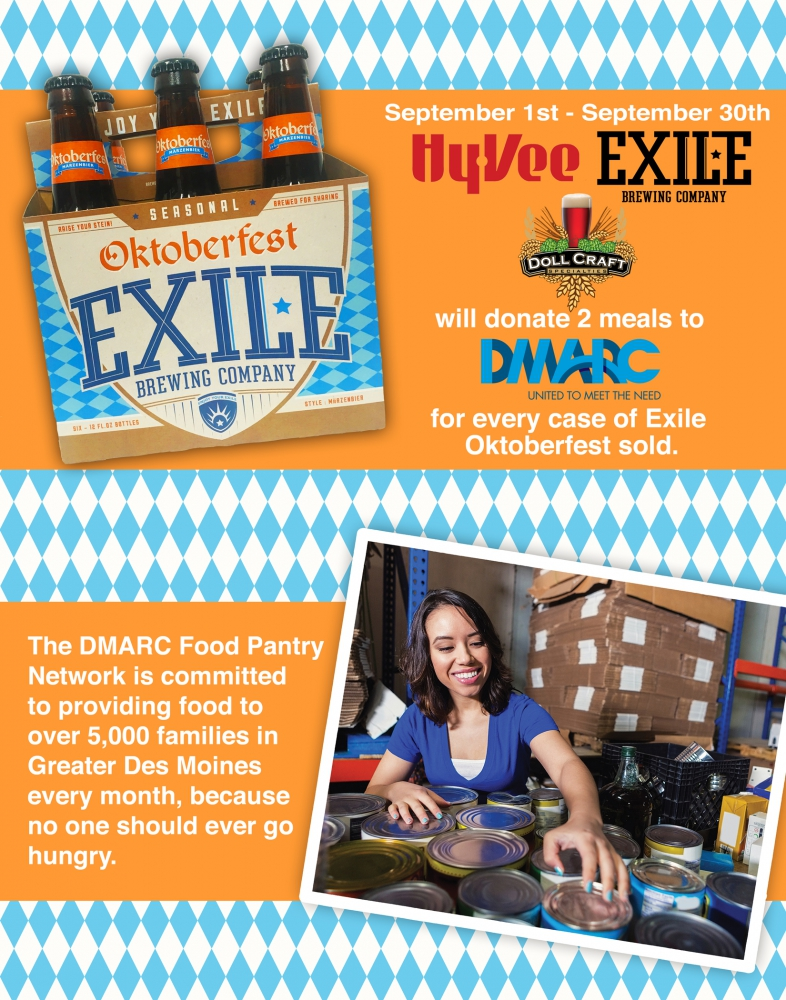 Oktoberfest Food Drive Exile Brewing Co